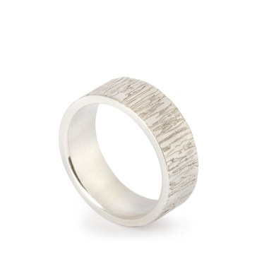 Estuary Etched Silver Rings 7