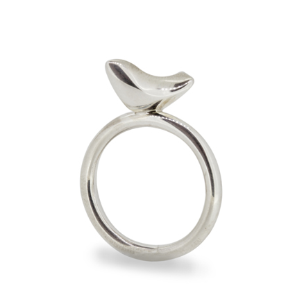 Riverside Silver Bird Ring