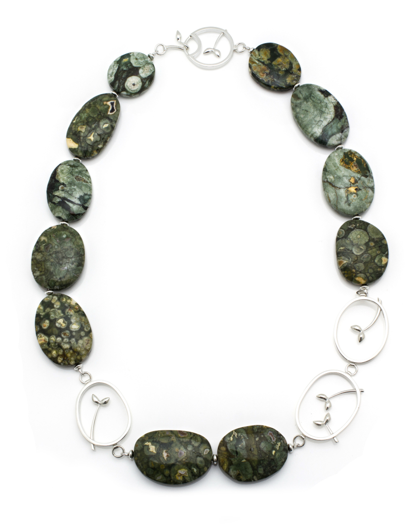 Seedling Silver and Ryolite Necklace