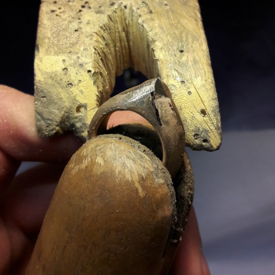 Cleaning a cuttlefish cast gold ring