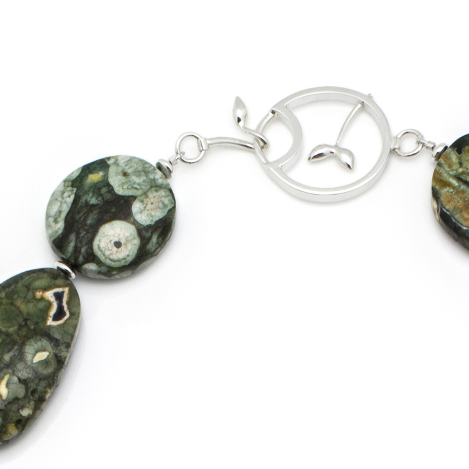 Handmade catch for Silver and Ryolite Necklace