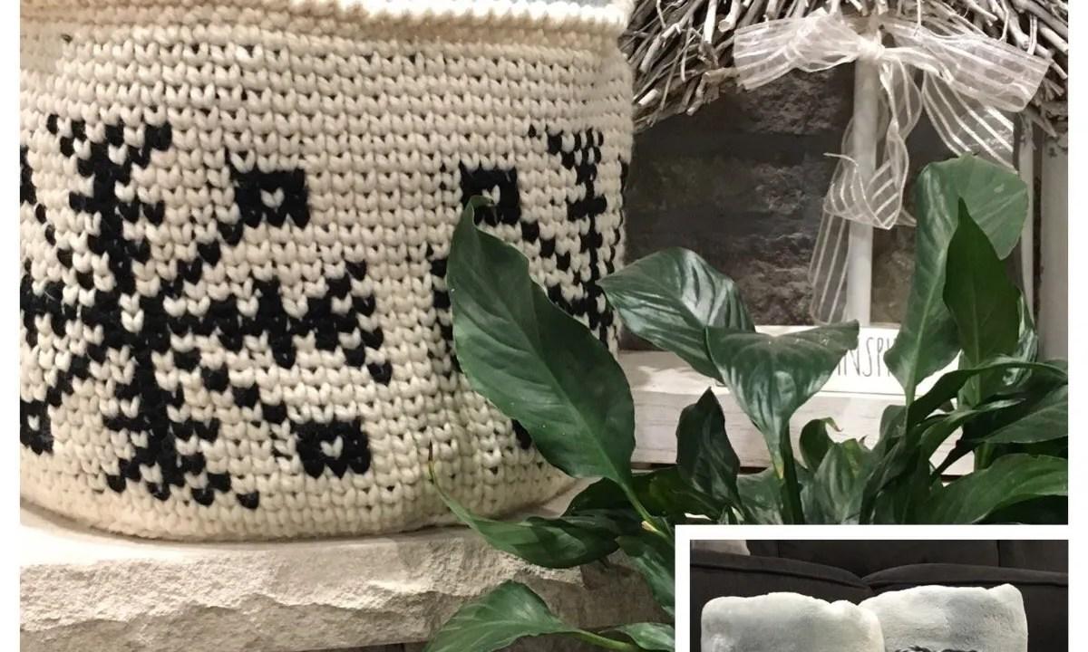 Crochet Pattern: Let it Snow Basket