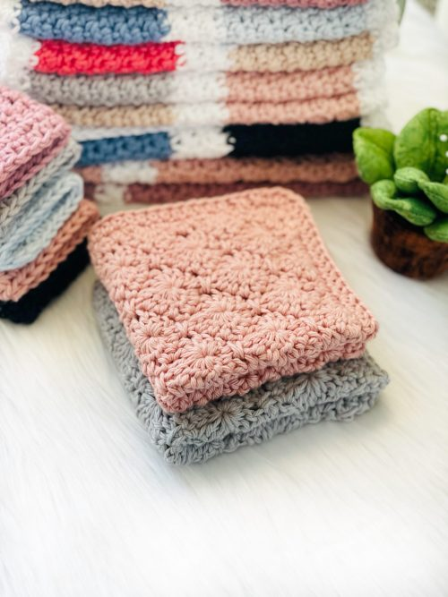 Free Crochet Pattern: Arlecchino Diamond Dishcloth, Wash Cloth