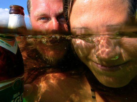 Att vi numera har en okej undervattenskamera (GoPro duger bara att filma med) gör mig glad!