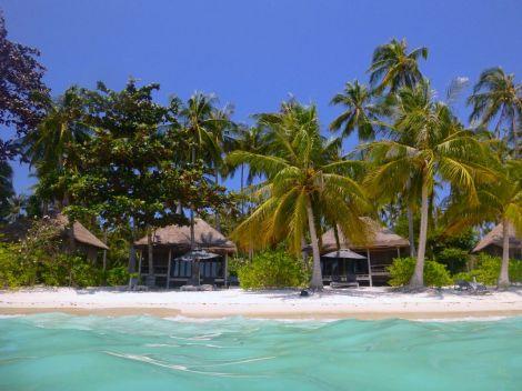 Inte alls dumt att bo i bungalow på stranden i Shark Bay