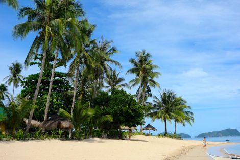 Promenera gärna söderut längs Las Cabanas. Det finns ett par resorter, men mest är det fiskebåtar och flätade bambuhyddor.