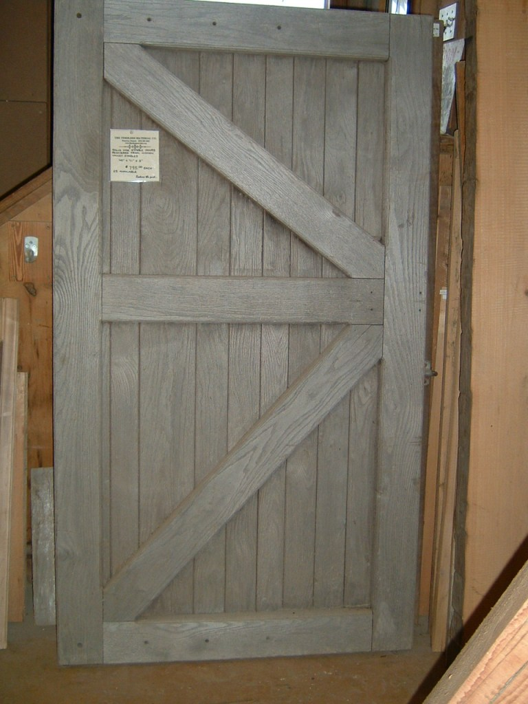 Salvaged barn doors, restored