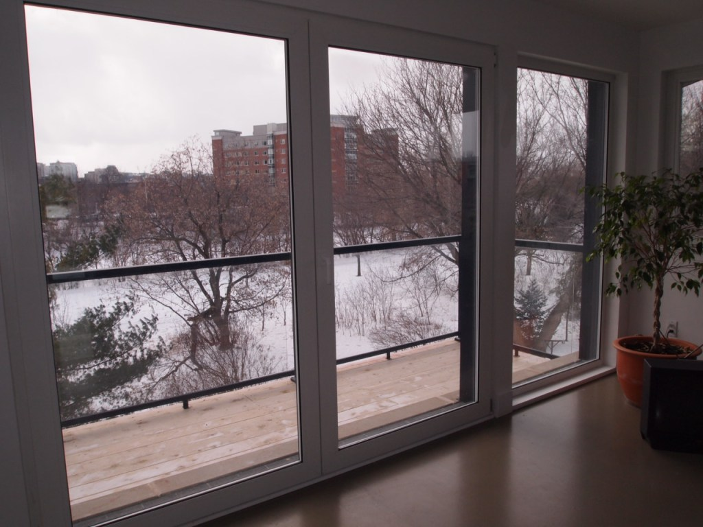 View from passive house certified home, Ottawa