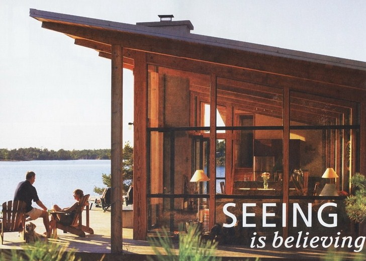 Shawanaga Bay Cottage with Inline Fiberglass windows
