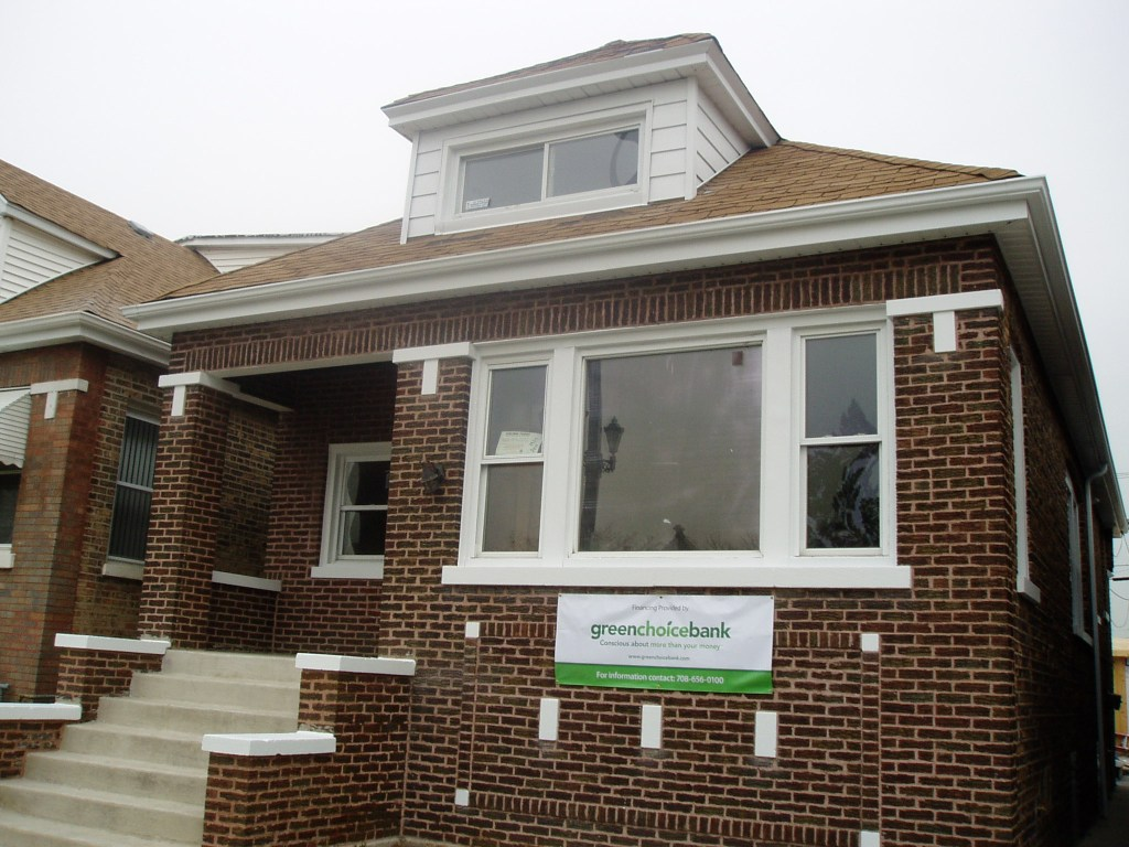 """Exterior, """"before"""" Chicago green home"""