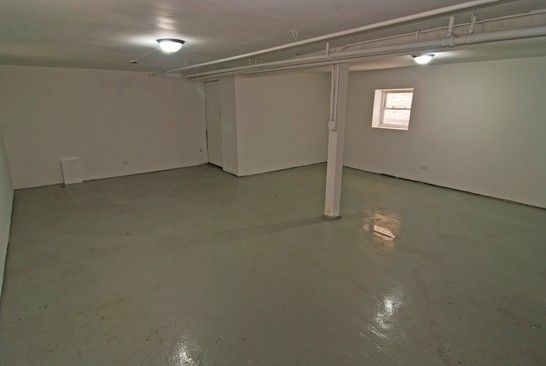 Completed basement, affordable green home, Chicago