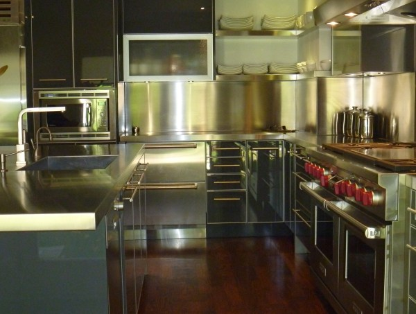 New stainless steel kitchen
