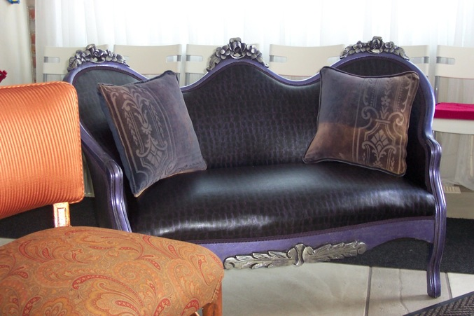 """Settee and chair """"after"""" pictures"""