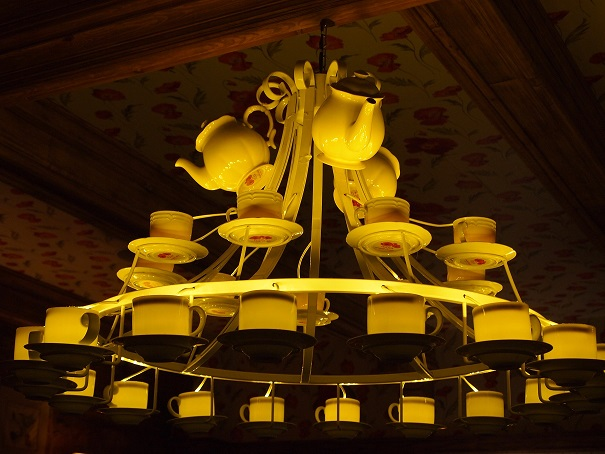 Who can resist a teacup chandelier?