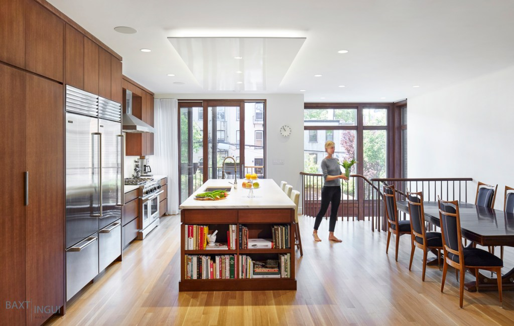 New kitchen in the addition of a home in Brooklyn, NY