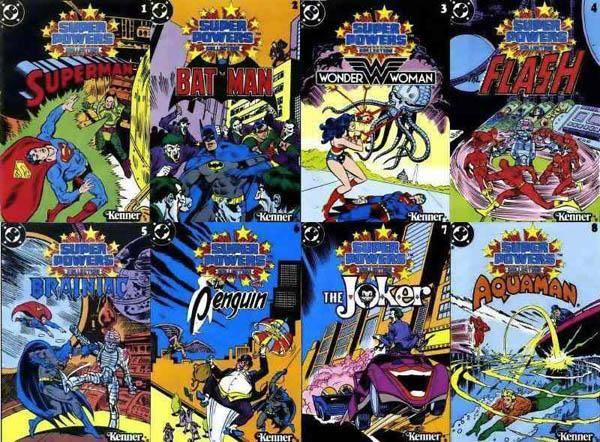super powers, super amigos, mini comics, la hsitoria de sus figuras de accion bechita y bechito