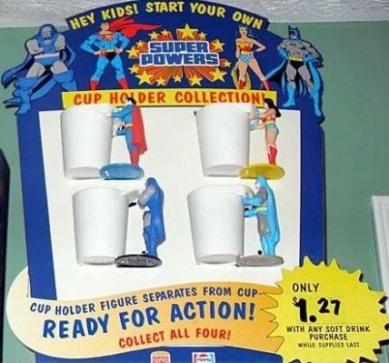 Tazas o portavasos Super Powers de Burger King