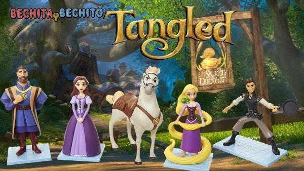 Tangled - Enrredados set de gashapones