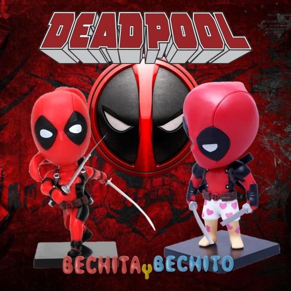 Deadpool y Lady Deapool Cabezones