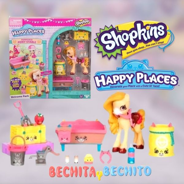 Shopkins Happy Places Pampered Pony Stable