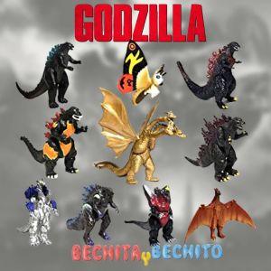 Godzilla king of monsters Set x 10 8cm