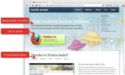 Screenshot fra Getfirefox.com