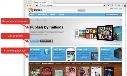Screenshot fra Issuu.com