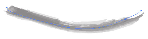 Kurve med en pensel på