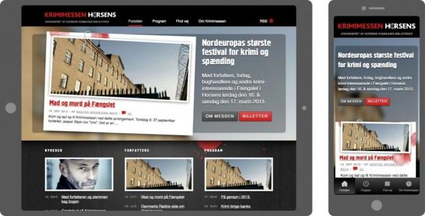 krimimessen.dk på tablet og smartphone