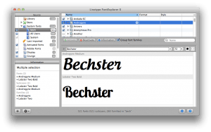 Linotype FontExplorer til mac