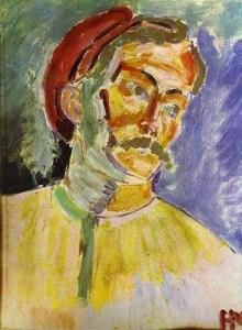 Portrait of Andre Derain by Henri Matisse (1905).