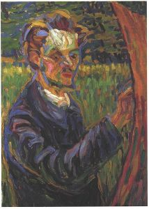 Portrait of Erich Heckel at the easel by Ernst Ludwig Kirchner.