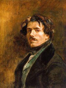 Self-Portrait of Eugene Delacroix (c. 1837).