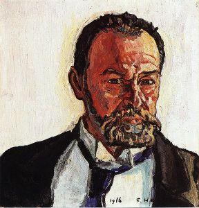 Self-Portrait of Ferdinand Hodler (1916).