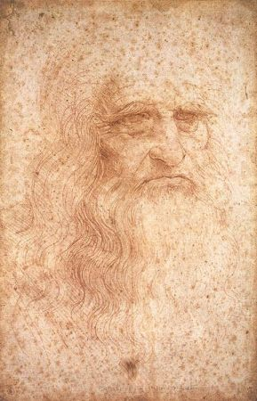 Self-Portrait of Leonardo da Vinci (c. 1512).