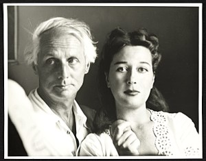 Max Ernst, with Dorthea Tanning, photographed by Robert Bruce Inverarity (1948).