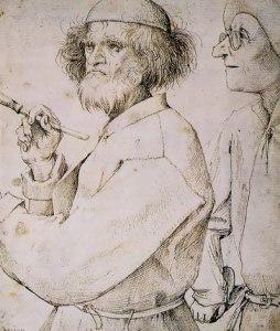 Pieter Bruegel the Elder (left figure believed to be self-portrait).