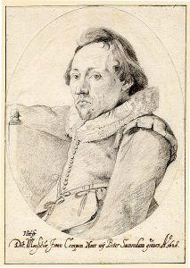 Portrait of Pieter Saenredam by Jacob van Campen (1628).