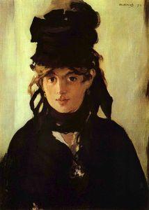Portrait of Berthe Morisot by Edouard Manet (1872).