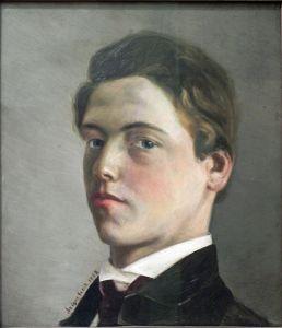 Self-Portrait of Wilhelm Leibl at age 18.