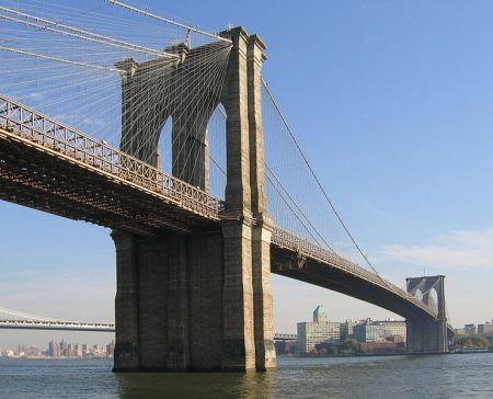 Dozens of workers died while building the Brooklyn Bridge, including the architect, John Roebling.  He was inspecting the works from a pier across the Hudson when a boat crashed into the dock, crushing his foot. Despite the amputation of his toes, he died two weeks later of a tetanus infection.