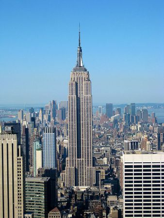 A Kong-free view of the Empire State Building.
