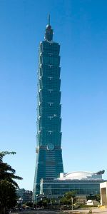 Taipei 101 incorporates some architectural details of the traditional Chinese pagoda.