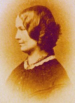 An 1854 photograph of Charlotte Brontë.