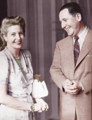 Eva and Juan Perón in 1950.