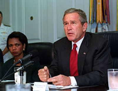 George W. Bush shortly after the terrorist attacks of 2001.