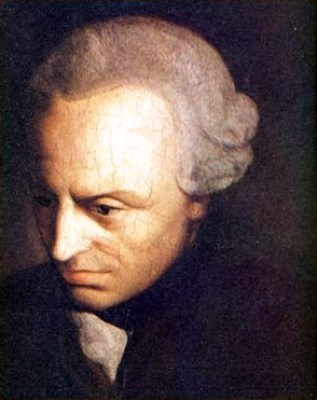 An 18th Century portrait of Immanuel Kant by an unknown artist.