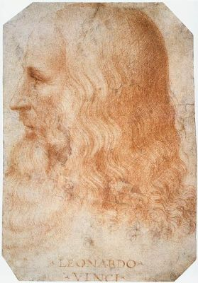 A portrait of Leonardo da Vinci by Francesco Melzi, from after 1510. It is located in the Royal Library at Windsor, UK.