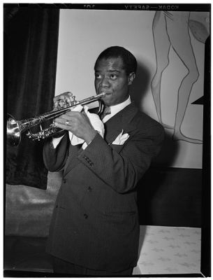 Louis Armstrong in the 1940s.