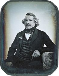 An 1844 daguerrotype of Louis Daguerre by Jean-Baptiste Sabatier-Blot.